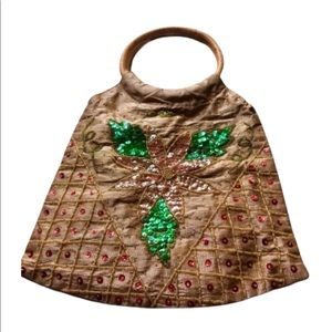Vintage Beaded & Sequined Hobo Bag